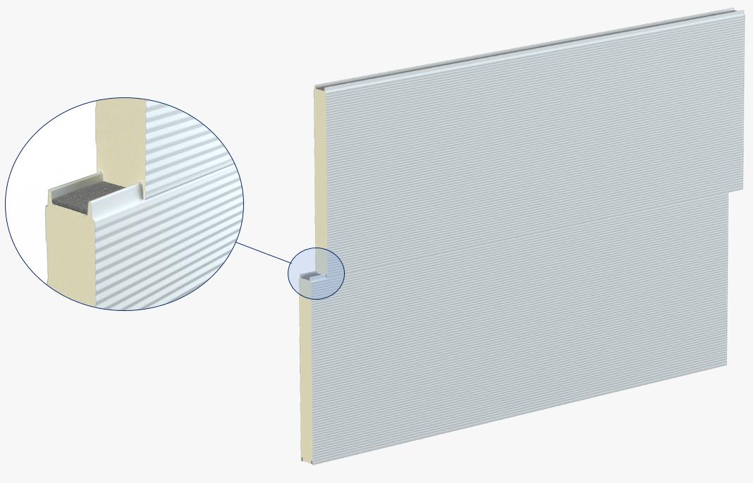 Stěnové sendvičové panely S PIR - přiznaný spoj